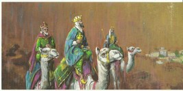 Vintage Christmas Card Wise Men Gibson Christmas Gems Unused with Envelope - $8.90
