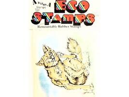 Eco Stamps Calvin Coyote Unmounted Rubber Stamp #F-74 image 2