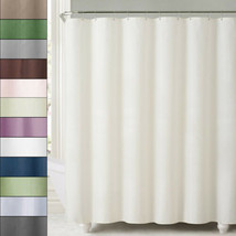 2-in-1 Water Repellant 70 x 72 Polyester Fabric Shower Curtain/Liner 11 ... - $11.49