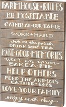 PBK Home Decor - Primitive Farmhouse Rules Slat Box Sign - $45.95