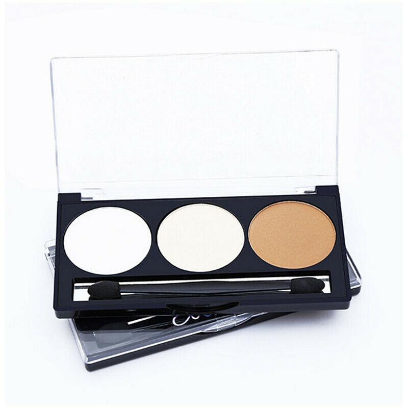 Primary image for 3Colors Face Highlighter Powder Palette Makeup Contour Shimmer Highlight