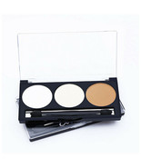 3Colors Face Highlighter Powder Palette Makeup Contour Shimmer Highlight - $6.07