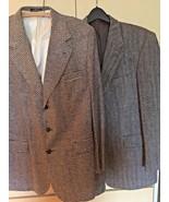 Men's Vintage Irvine Park  2 Sportcoats (42) Gray Herringbone/Black/ Tan... - $23.38