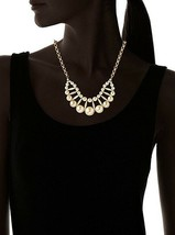 """David Aubrey Hadrien Gold Plated Double Row Pearl 18"""" Statement Necklace NWT image 2"""