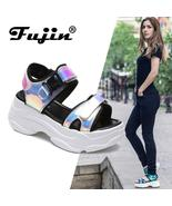 Fujin Brand Women Sandals 2019 New Fashion Ladies Casual Shoes Bling Wed... - £18.35 GBP+