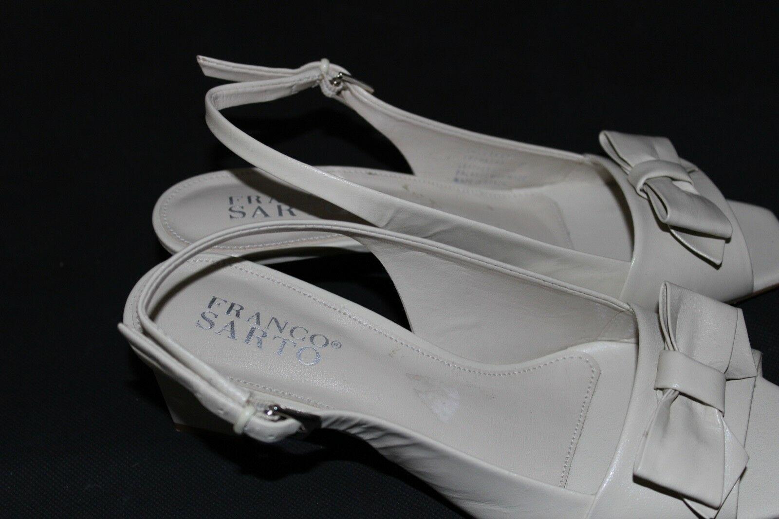 Franco Sarto Héritage Femmes Talons Chaussures en Cuir Beige Taille 6M image 5