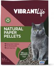 Vibrant Life Natural Paper Pellets Cat Litter, Unscented, 12 lb - $15.49