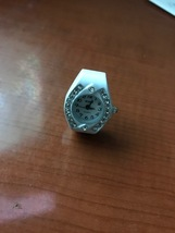 Oval white ring watch new - $10.00