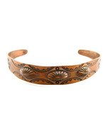 Vintage 1960s 70s Handmade Copper Stamped & Raised Native Tribal Design ... - $45.00