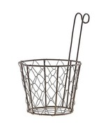 Flower planter Wire Basket with Handle porch Spring Herbs Floral Garden  - $15.83