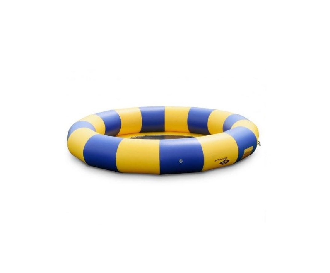 Blue & Yellow 15 ft Inflatable Water Trampoline Float Raft Bounce Jump Boat Land