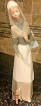 "Retired Lladro Figurine ""Shepherdess with Dog"" # 1034 Glossy Glaze Finis... - $69.96"