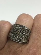 Vintage Deco Marcasite Ring 925 Sterling Silver Size 6.5 - $75.24