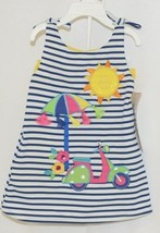 Rare Editions 2 Piece Set Summer Dress Scooter Umbrella Bloomers Size 18 Months image 1