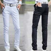 Mens  british style slim fit casual brand fashion men joker casual pants - $34.68
