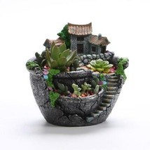 Succulent Plants Planter Flowerpot Resin Flower Pot Desktop Potted Holde... - $14.37