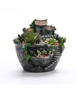 Succulent Plants Planter Flowerpot Resin Flower Pot Desktop Potted Holde... - $19.40 CAD