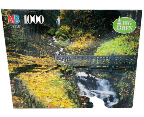 """Wahkeena Falls, OR"" ~ Big Ben ~ 1000 Pc Vintage 1995 Jigsaw Puzzle AA(35) - $19.77"