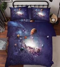 3D Space Planets Bed Pillowcases Quilt Duvet Cover Set Single Queen King Size AU - $64.32+
