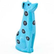 Tabaka Chigware Hand Carved Kisii Soapstone Light Blue Puppy Dog Figure Kenya image 2