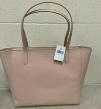 NWT Kate Spade Violeta Large Zip Top Tote Light Beige Leather Bag WKRU5444 $379 - $119.99