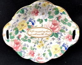 Floral Roses Fine Bone China Décor Dish Religious Made In England - $43.19