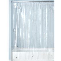 "Extra Long 72"" x 84"" Mildew-Resistant Vinyl Shower Curtain Liner w/ Magnets New - $13.07"