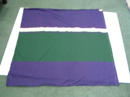 Vintage sewing fabric knit jersey purple green  pattern 1 1/8 yard mater... - $10.19
