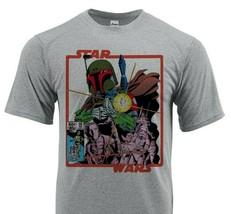 Star Wars Dri Fit graphic T-shirt moisture wick Boba Fett retro comic SPF tee image 1