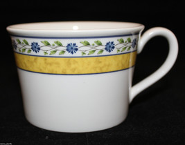 Wedgwood Mistral Bone China Coffee Tea Mug Cup Blue Flowers Yellow Green... - $34.76