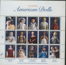 USPS Scott 3151 Sheet Stamps MNH 1997 American Dolls 32x15 - $11.87