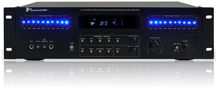 Technical Pro PRE-B80/70 5.1 CHANNEL professional surround sound Preamp (S&D)