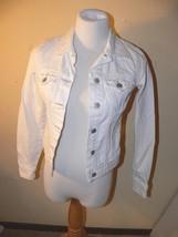 Old Navy Women's White Distressed Jean Denim Jacket Size XS mc - $15.00