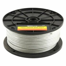 Wire Rope: 250 ft Vinyl Coated Aircraft Cable - $71.75