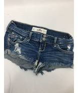 Hollister Women Shorts Blue Light Wash Above Knee Double Buttons Cotton ... - $13.10