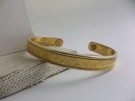 Vintage Magnetic Bracelet 24K Gold Electroplate... - $28.98