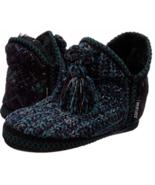 Muk Luks Mollie Dark Purple Knit Slippers Womens XL 11-12 Ankle Bootie C... - $48.33