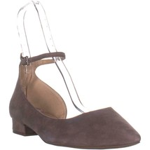 Franco Sarto Slide Pointed Toe Ankle Strap Flats, Iron Suede, 13 US - $32.63