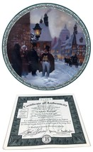 Spirits Warning Plate A Christmas Carol Lloyd Garrison 1993 Collection RARE - £34.38 GBP