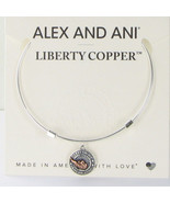 Alex and Ani LIBERTY COPPER CARRY LIGHT Shiny Silver Bangle New W/Tag Ca... - $38.80