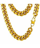 PROSTEEL Miami Cuban Gold Mens Chain,Hip Hop Jewelry,Hiphop Gold Chains ... - $28.88