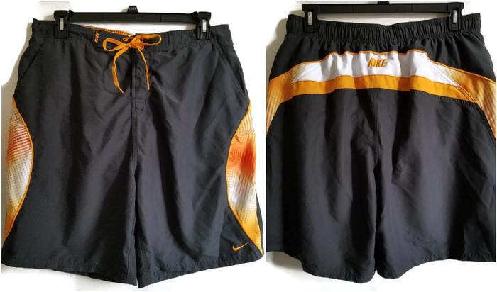 224aac4466 Nike Mens Swim Trunks XL Black Orange White and 50 similar items. S l1600