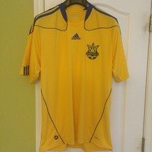 AUTHENTIC ADIDAS UKRAINE HOME SOCCER JERSEY STYLE P42340 SIZE: S, XL - $41.59