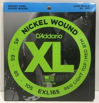 (New) D'Addario EXL165 Nickel Wound 45-105 Long Scale Bass Guitar Strings - $19.59
