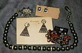 Costume Jewelry (Black ) AA20-JW5001 Vintage