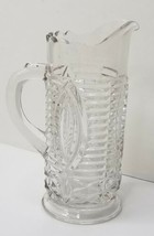 Vintage Pressed Glass Childs Pitcher ladder pattern - $14.95