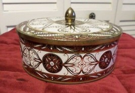 Vintage Round Metal Canister w/ Lid Tin Designed by Daher NY Made in Eng... - $11.88