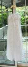 Davids Bridal Spaghetti-Strap A-Line Gown Flower Girl Dress Size 14 Whit... - $19.80