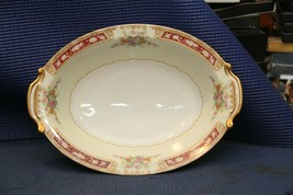 "Noritake China 10-1/2"" Oval Serving Bowl - Vintage Floral Pattern - $19.55"
