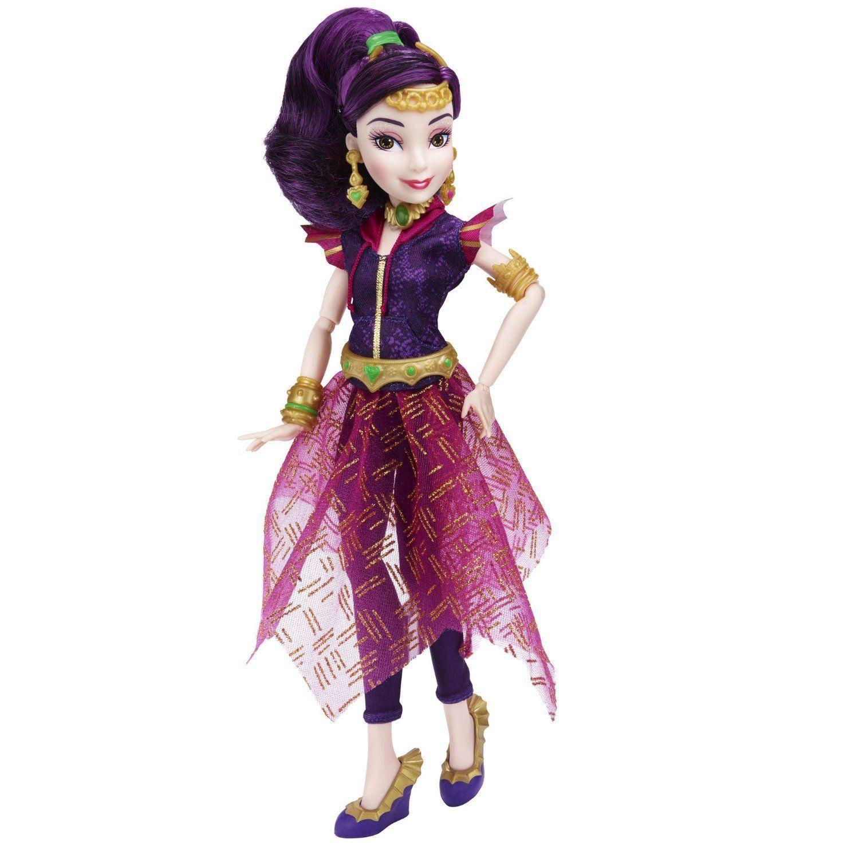 Image 3 of Disney Descendants Genie Chic Villain Mal Doll in Purple, Hasbro, 6+